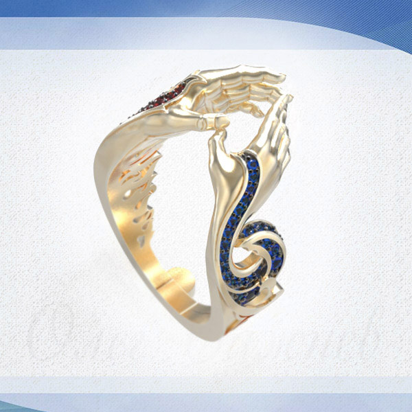 Fire and Water ring